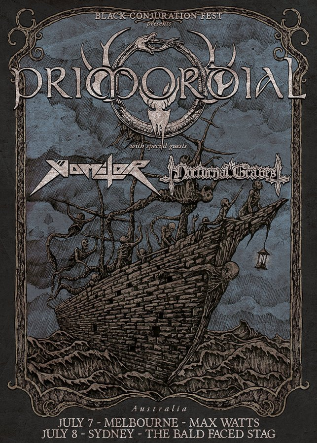 Primordial Australian tour 2017