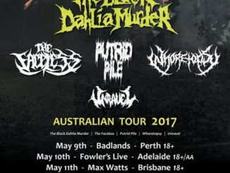 The Black Dahlia Murder Australia tour 2017