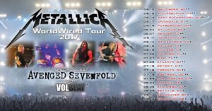 Metallica tour 2017