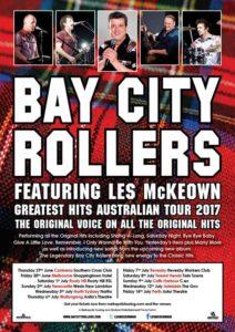 Bay City Rollers Australia tour 2017
