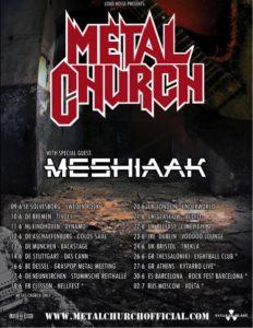 Meshiaak - Metal Church tour