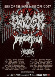 Vader Immolation European tour
