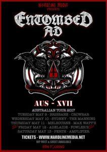 Entombed A.D. Australian tour 2017