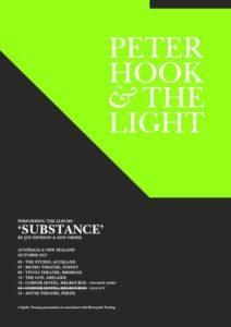 Peter Hook & The Light Australian tour 2017