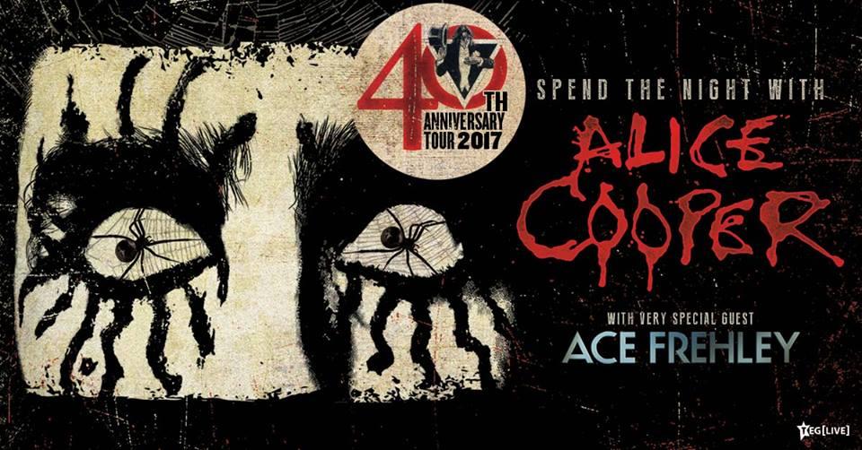Alice Cooper - Ace Frehley Australian tour 2017