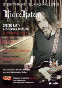 Richie Kotzen Australian tour 2017