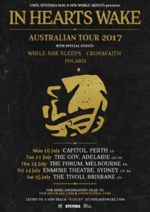 In Hearts Wake Australian tour 2017