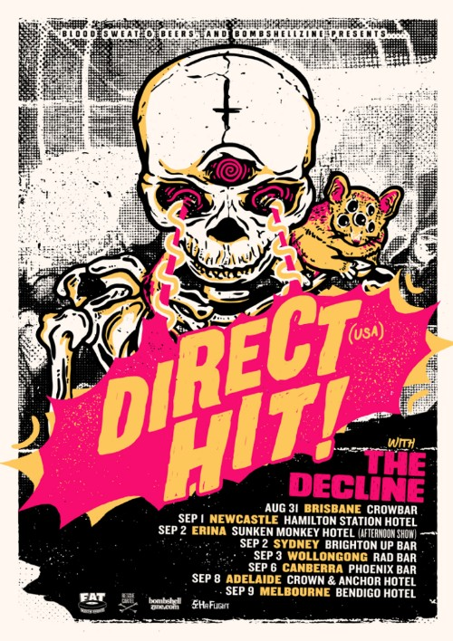 Direct Hit Australian tour