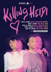 Killing Heidi Australian tour