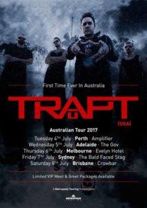 Trapt - Australian tour 2017