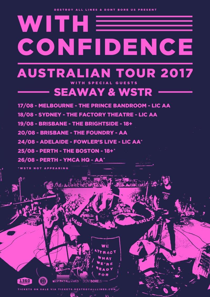 With confidence announce australian headline tour 2017 for Soil uk tour 2016