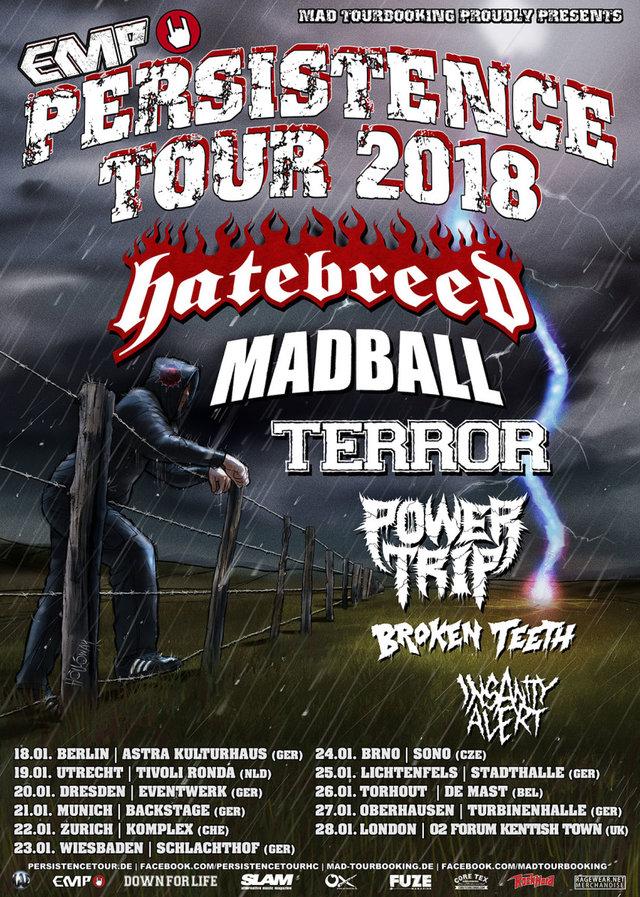 Hatebreed Madball tour