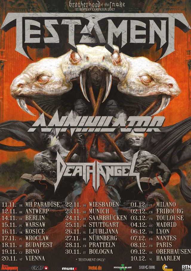 Testament Annihilator Death Angel