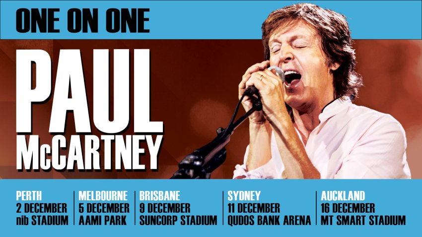 Paul McCartney brings his 'One On One Tour' to Australia ...