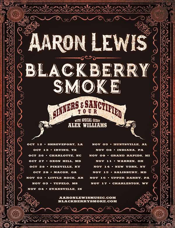 Aaron Lewis Blackberry Smoke tour