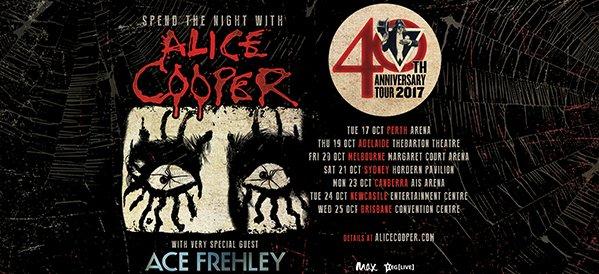 Alice Cooper Ace Frehley Australia tour 2017