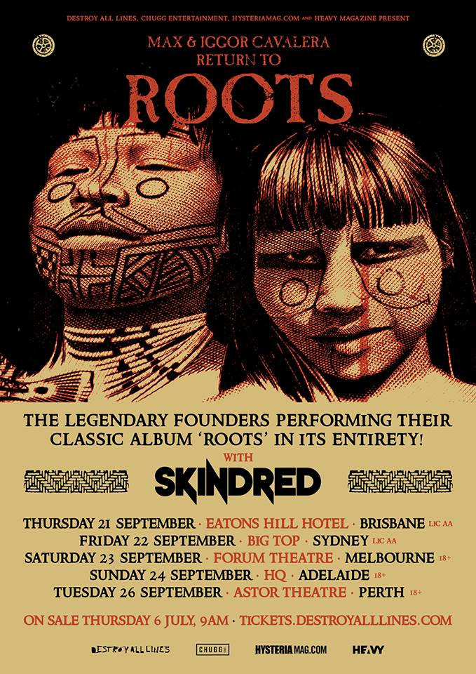 Max and Iggor Cavalera - Return to roots Australia tour