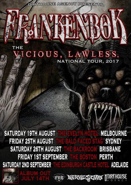 Frankenbok Australia tour 2017
