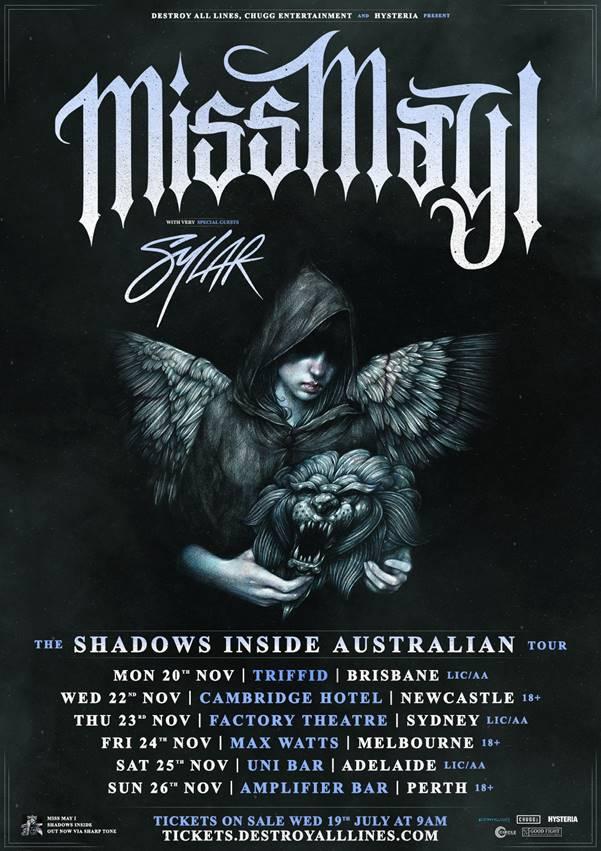 Miss May I Australian tour 2017
