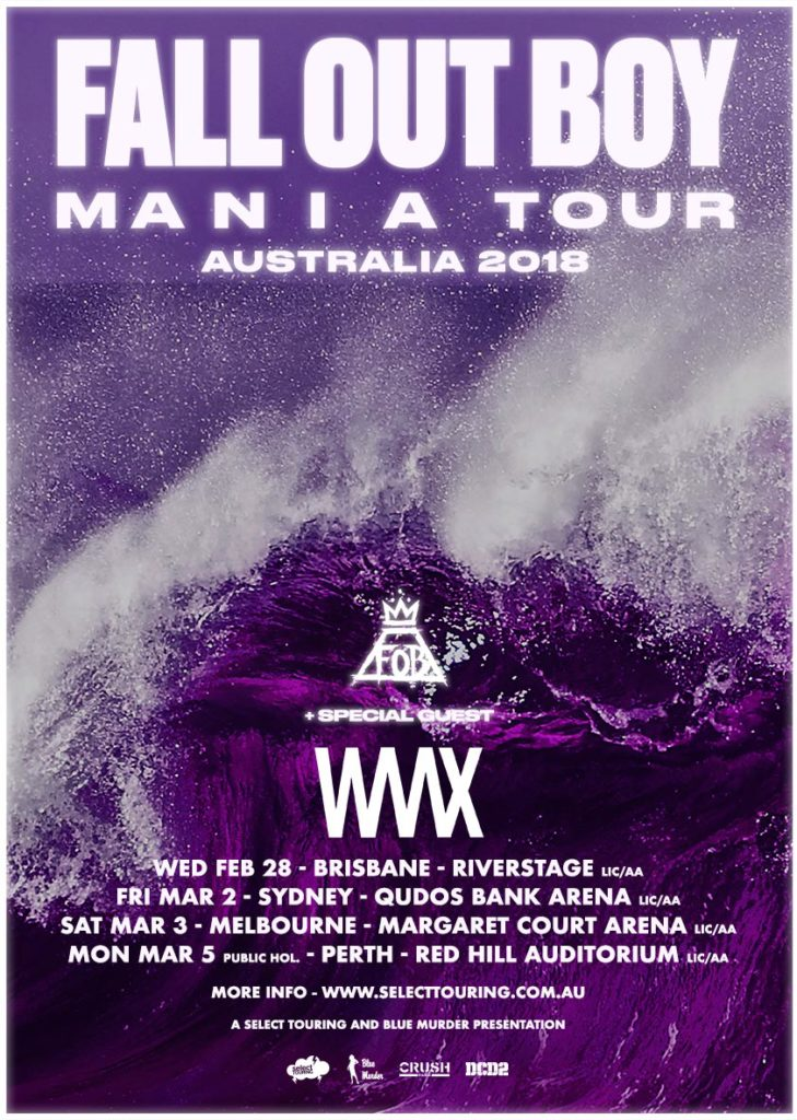 Fall Out Boy Australia tour 2018