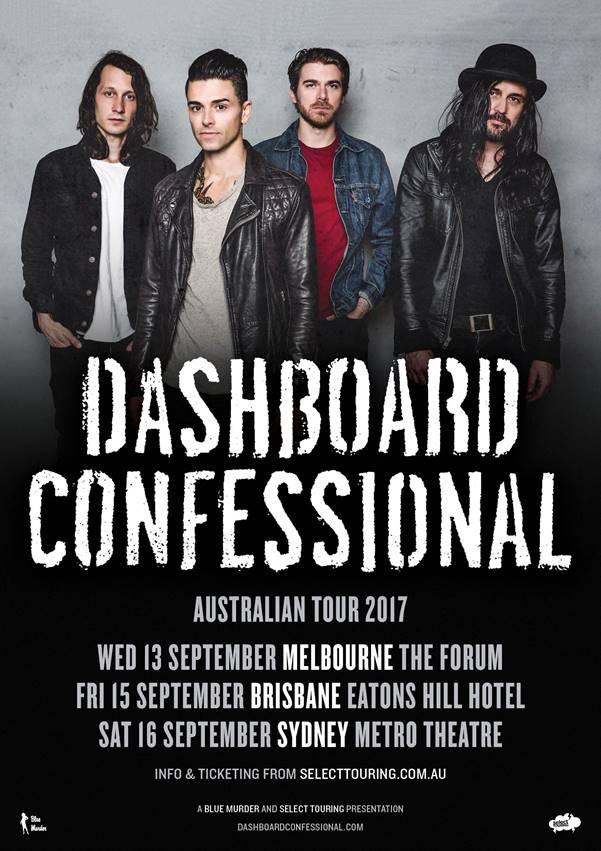 Dashboard Confessional Australian tour 2017