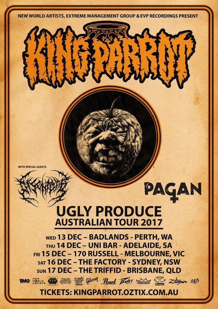 KING PARROT 'UGLY PRODUCE' AUSTRALIAN TOUR