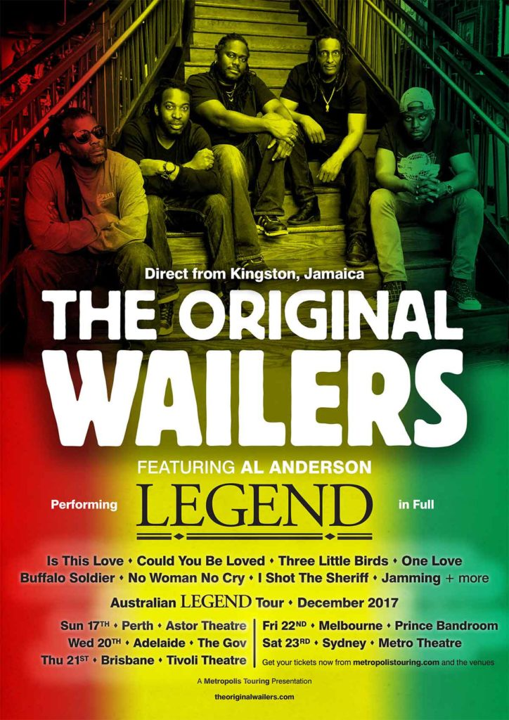 The Original Wailers Australian tour