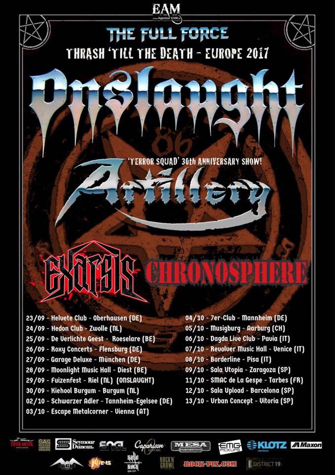 Onslaught - thrash til death tour