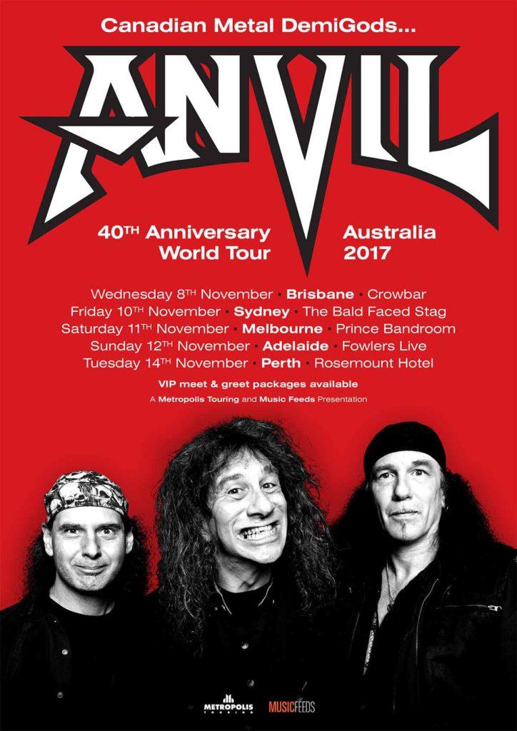 Anvil Australia Tour