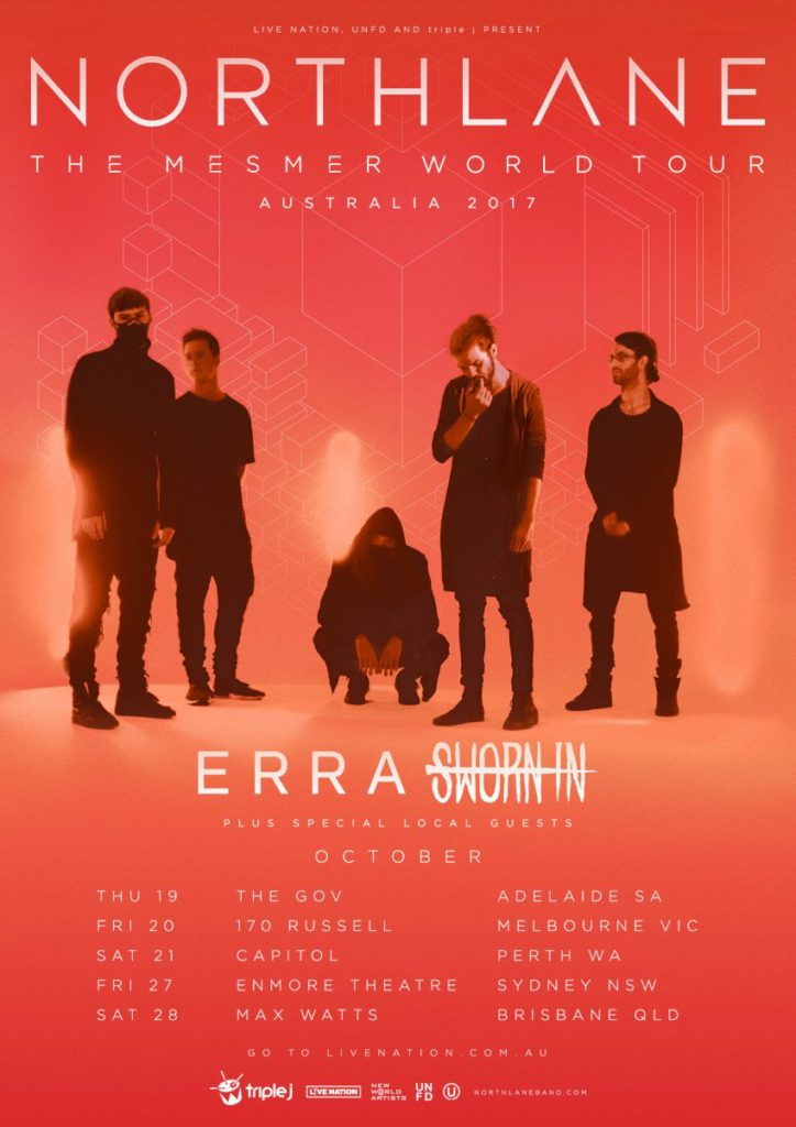 Northlane Australia tour 2017