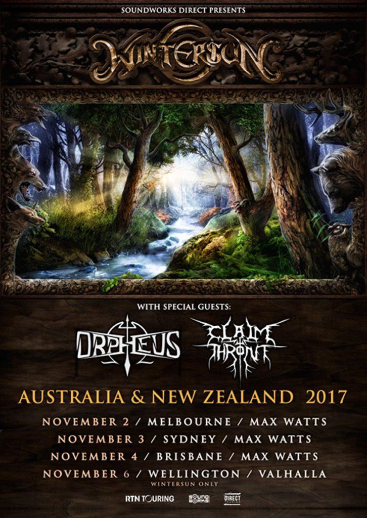 Wintersun Australia tour 2017