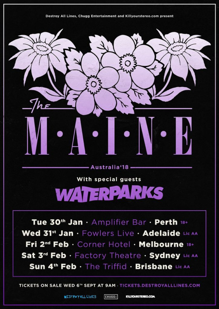 The Maine Australia tour 2018
