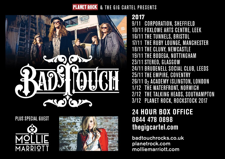 Bad Touch - Mollie Marriott UK tour