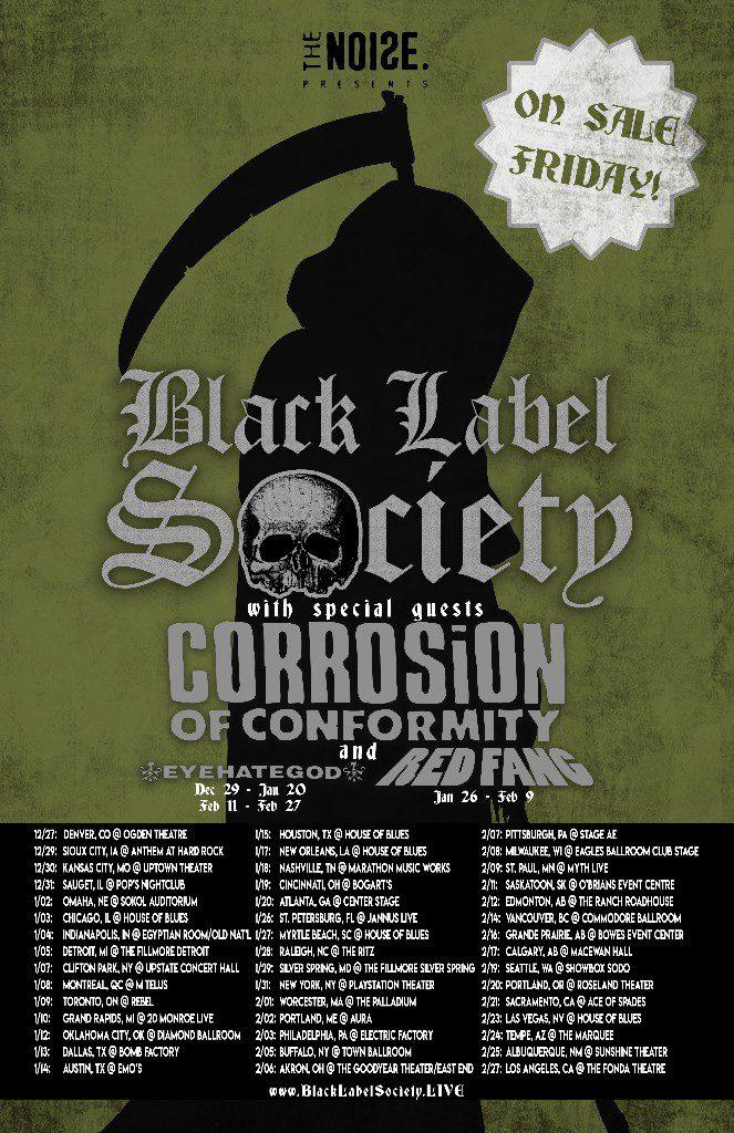 Black Label Society - US tour