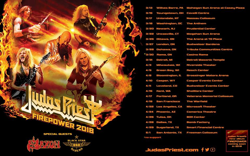 Judas Priest Set To Release Firepower Album Followed By