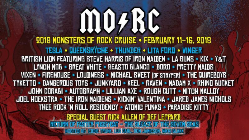 Monsters Of Rock Cruise 2018 Final Public Sale Begins