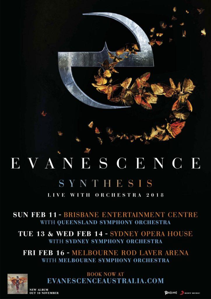 Evancescence Australia tour 2018