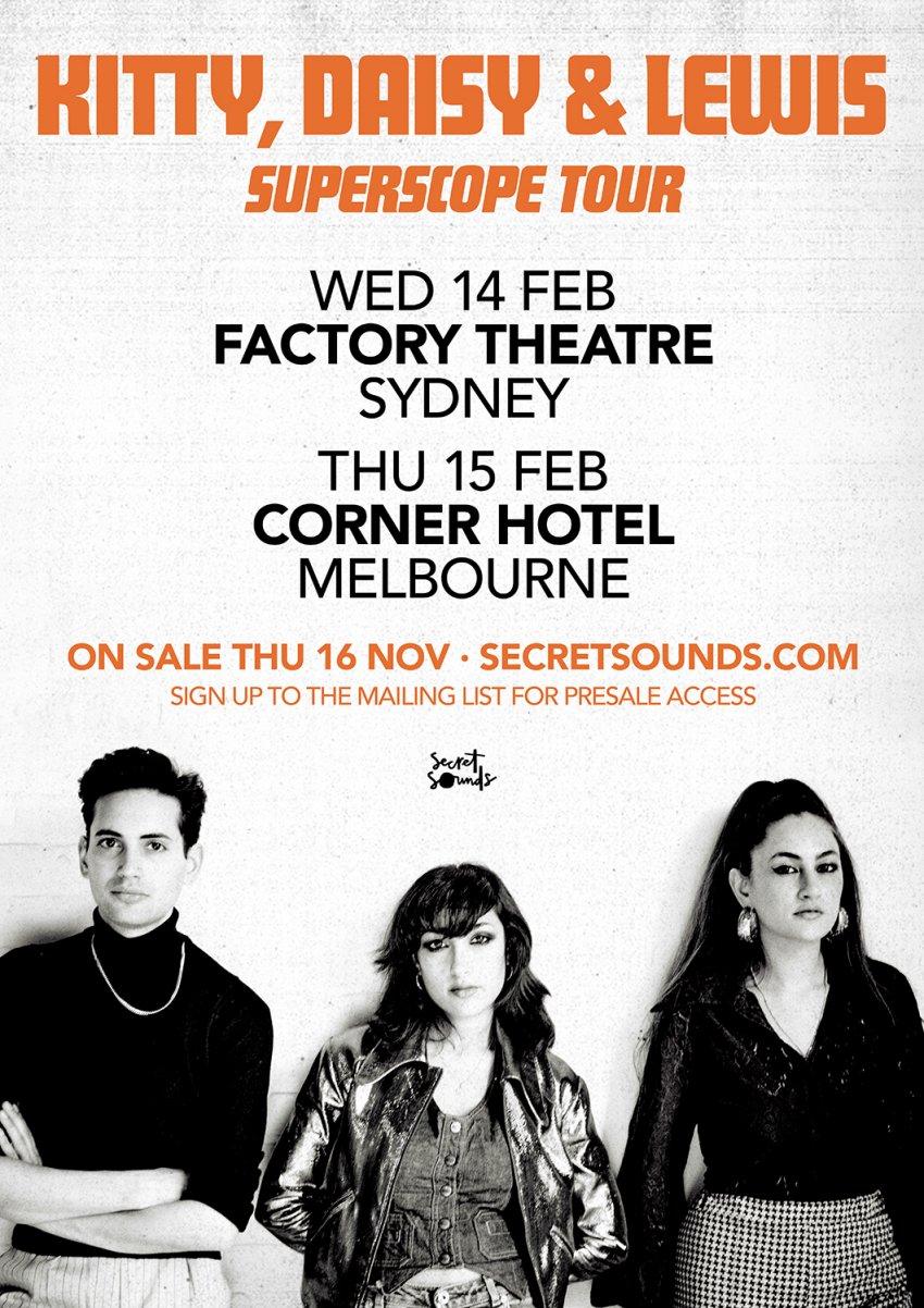 Kitty Daisy & Lewis Australian tour