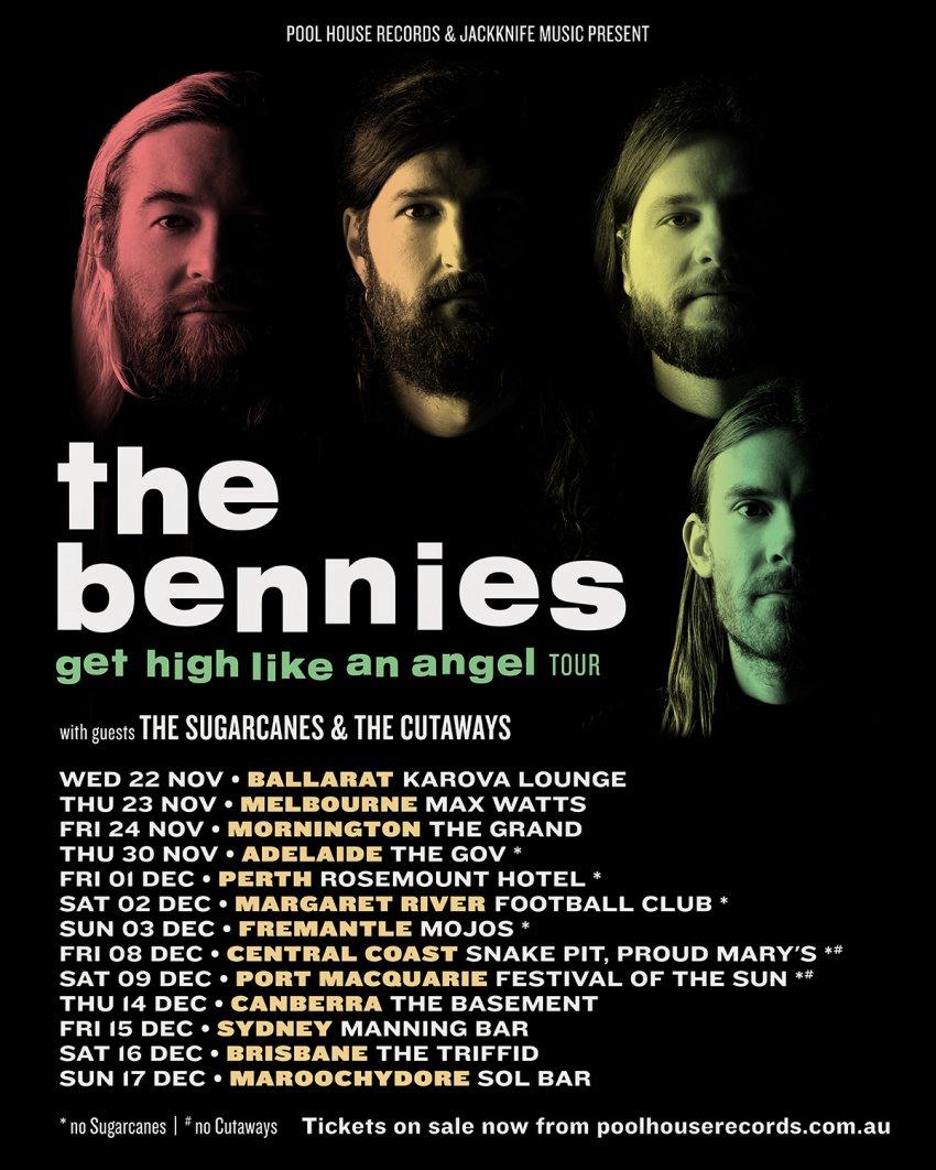 The Bennies Australia tour 2017