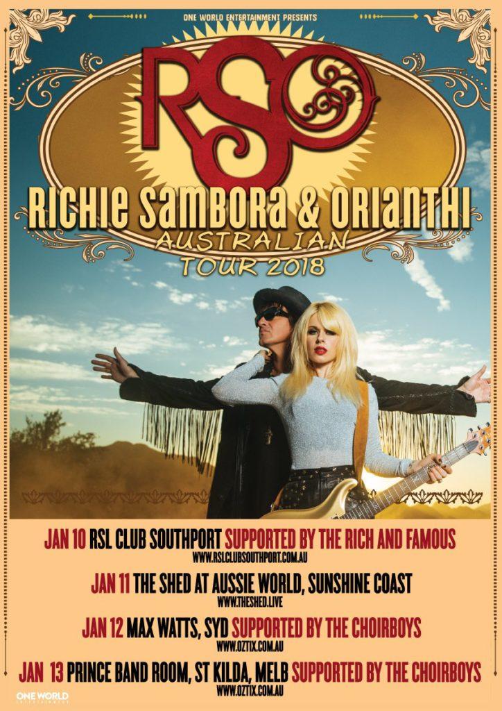 RSO Australian tour 2018