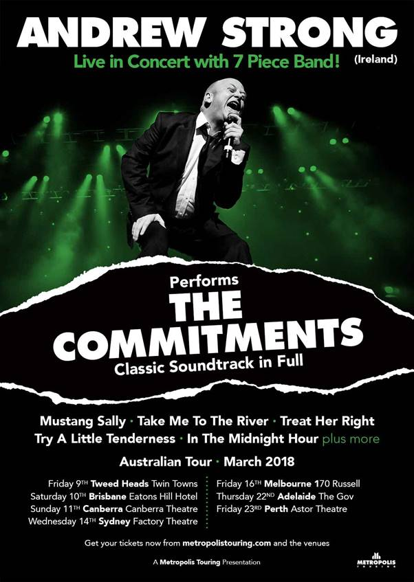 Andrew Strong The Commitments Australian Tour