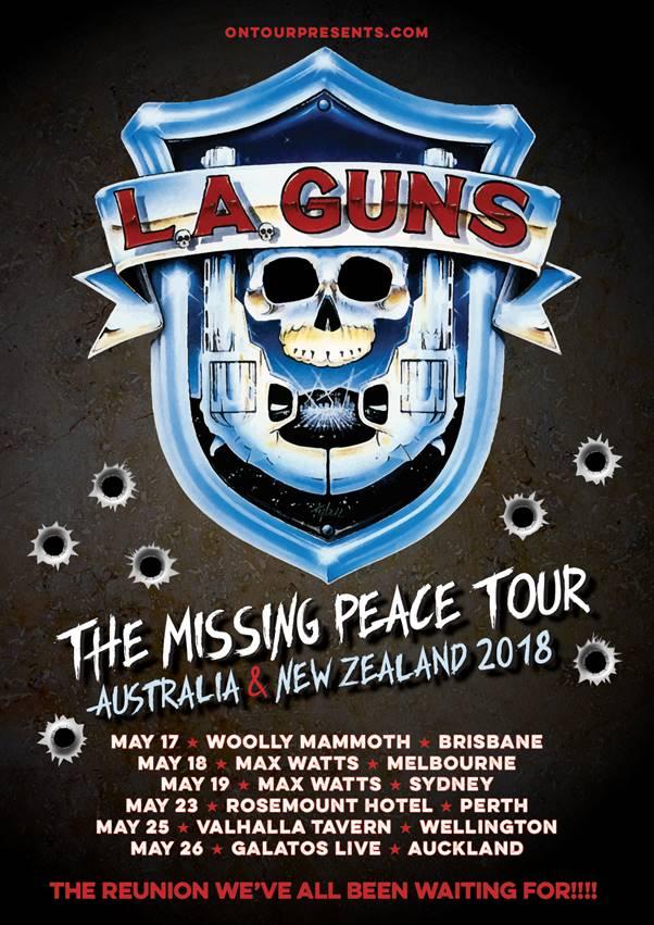 L.A. Guns Australia tour 2018