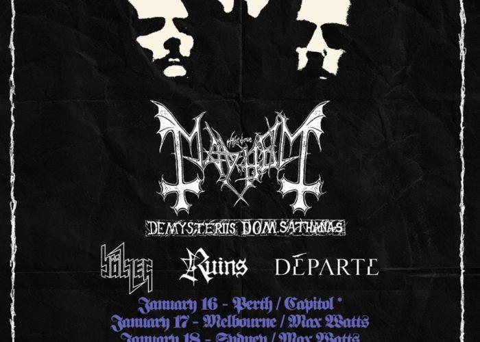 Mayhem - DE MYSTERIIS DOM SATHANAS Australia tour