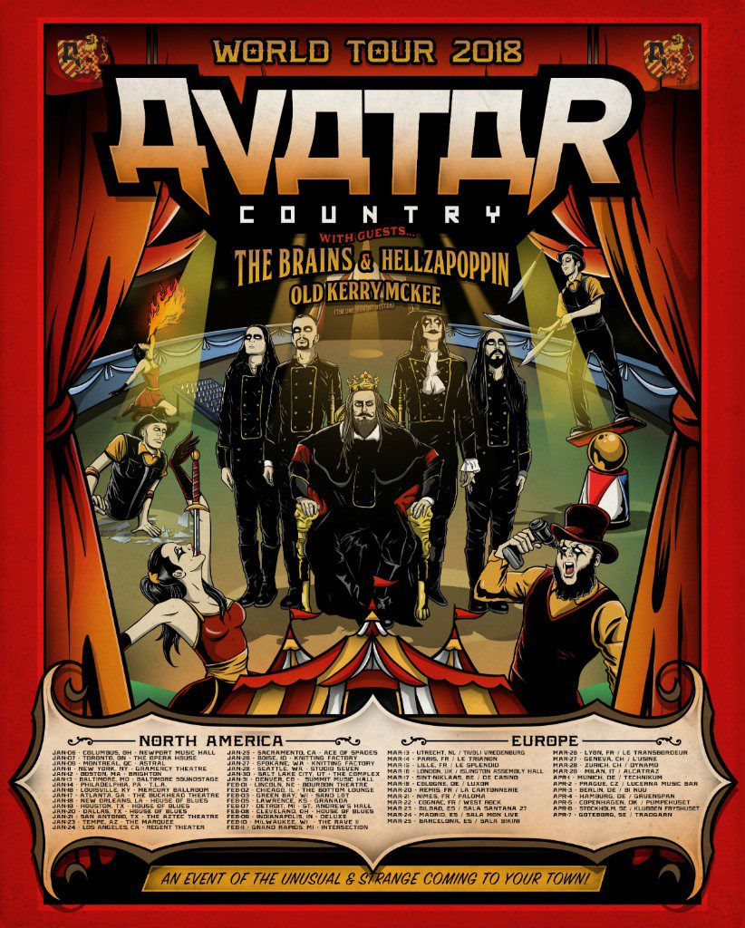 Avatar 2 2018: Avatar Debut New Single And Music Video 'The King Wants