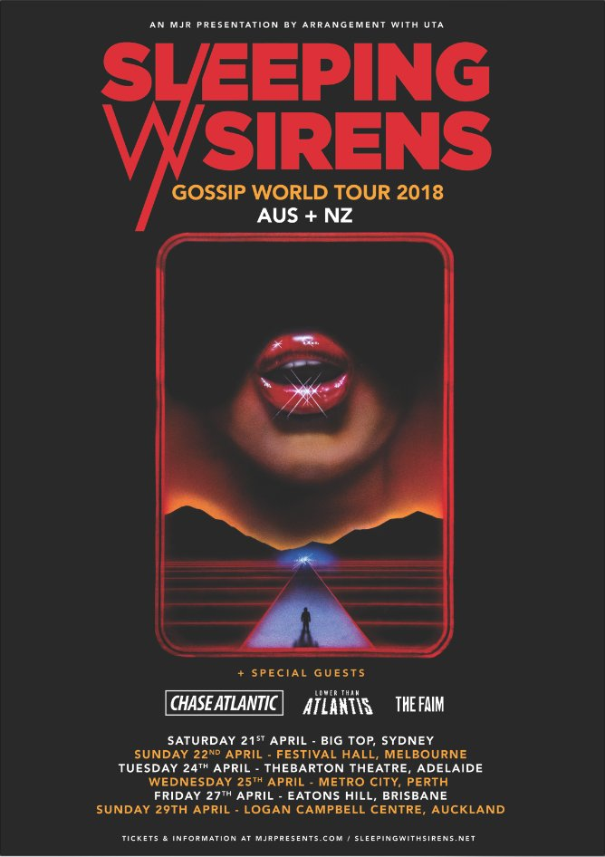Sleeping with sirens tour dates in Sydney