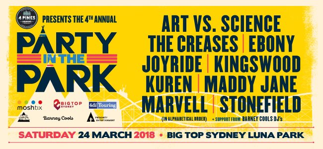 sydney gig guide march 2018