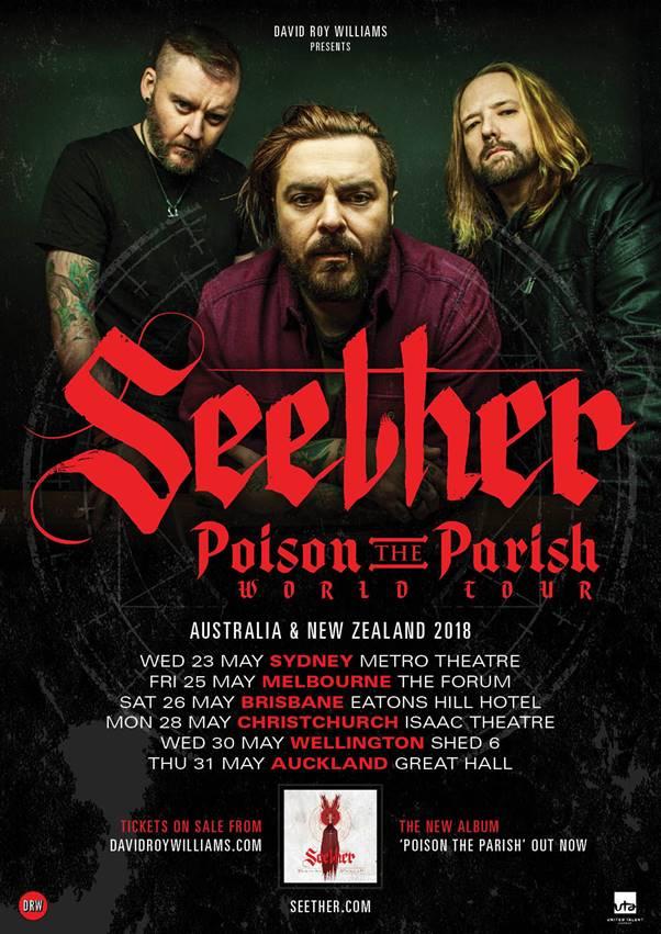 Seether Tour 2020.Seether Announce Poison The Parish Australian Tour Dates