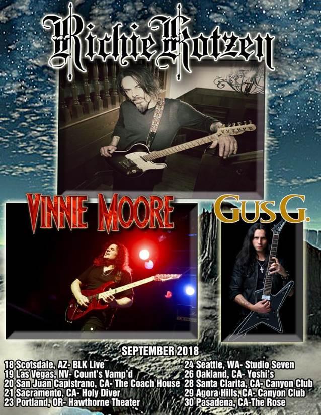 Richie Kotzen Tour 2020 Richie Kotzen, Vinnie Moore and Gus G announce US tour – The Rockpit