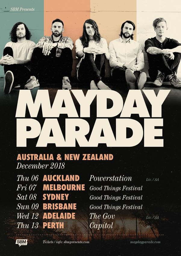 Mayday Parade Announce Australian and New Zealand 2019 ...