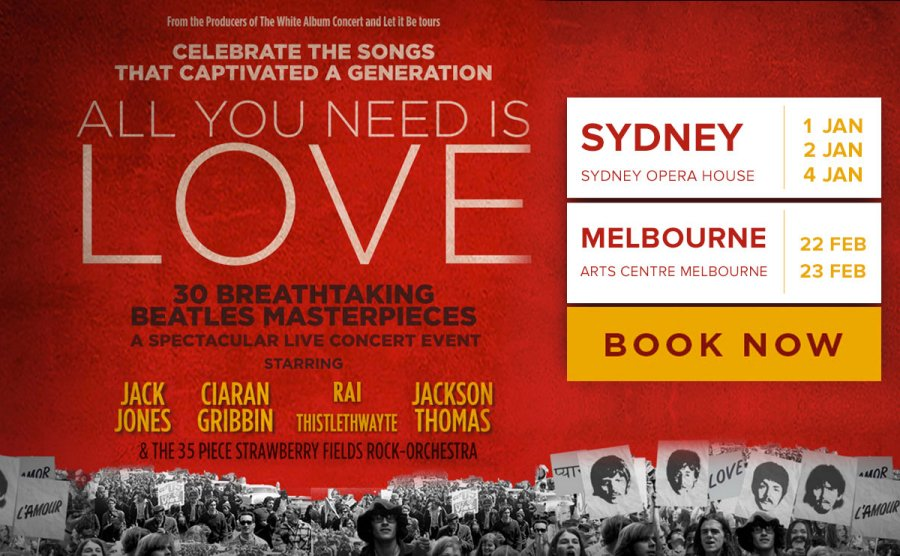 Image result for all you need is love sydney opera house 2019